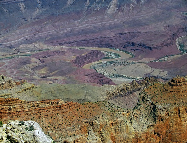 Colorado River Landscapes Gorge Nature Grand Canyo