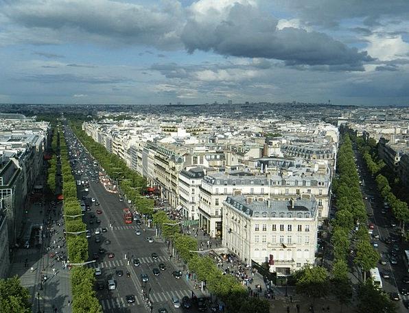 City Urban Buildings Architecture Paris Panorama M
