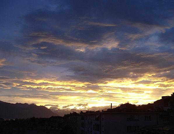 Dawn Beginning Blue Sun Sky Light Bright Lausanne