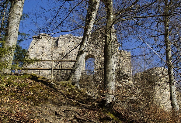 Rusenschloss Devastation Gerhausen Ruin Rock Blaub