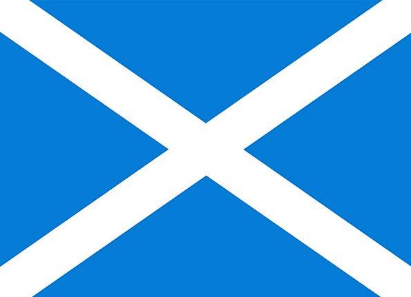 Scotland Flag Standard England Blue Azure Cross Fr
