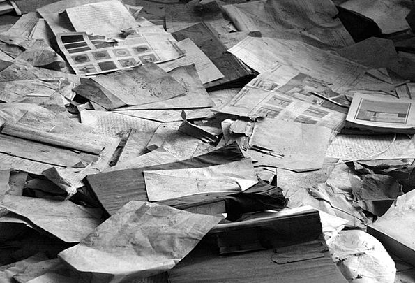 Paper Pile Newspapers Journalists Waste Paper Wast