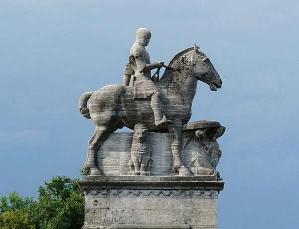 Equestrian Statue Horse Mount Reiter Otto Of Witte