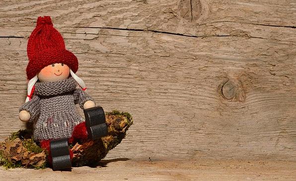 Fig Brownie Fairy Holzfigur Imp Rascal Males Funny