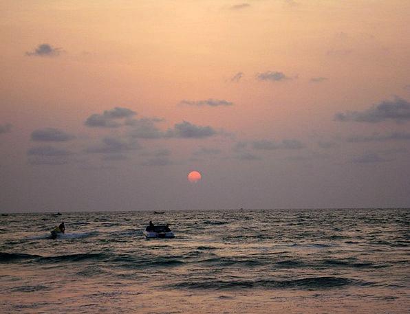 Sunset Sundown Vacation Travel Shore Coast Sun Sea