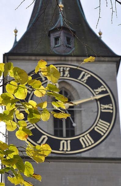 Clocktower Clock Timepiece Zurich Tower Barbican S