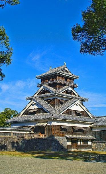 Japan Castle Fortress Kumamoto Uto Tower