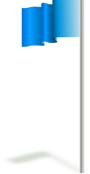Flagpole Mast Standard Pole Opposite Flag Blue Azu