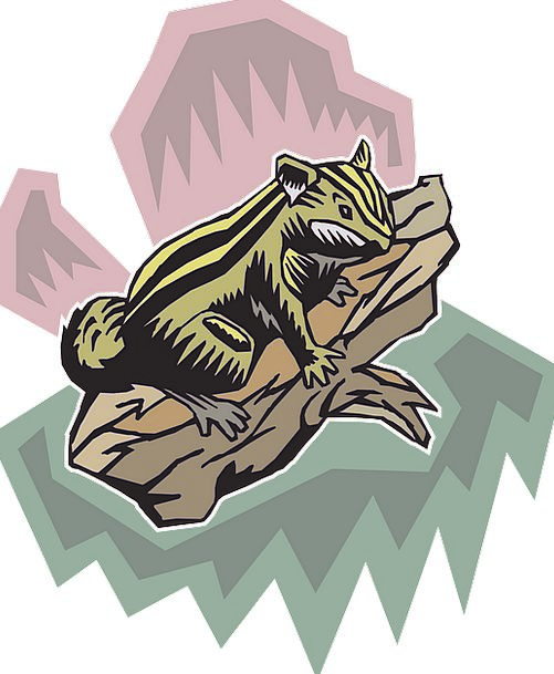 Stylized Conventional Division Chipmunk Branch Sty