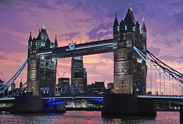 London Buildings Architecture Bridge Bond Tower Br