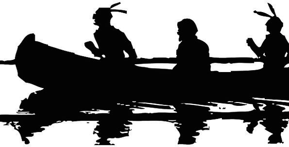 Canoe Monuments Places Silhouette Outline Indian F