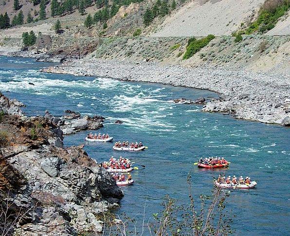 River Rafting Water Aquatic Fraser River Scenery B
