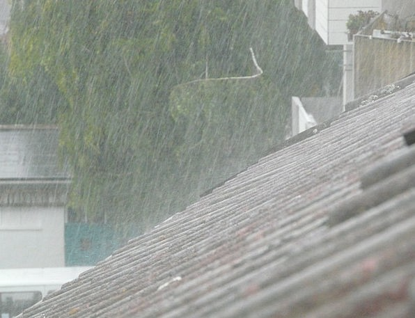 Downpour Deluge Rooftop Shiver Quiver Roof Grey Ra