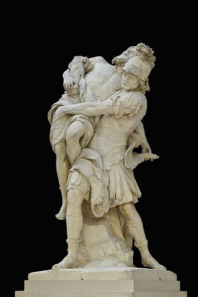 Statue Figurine Paris Louvre Sculptor Aeneas Roman