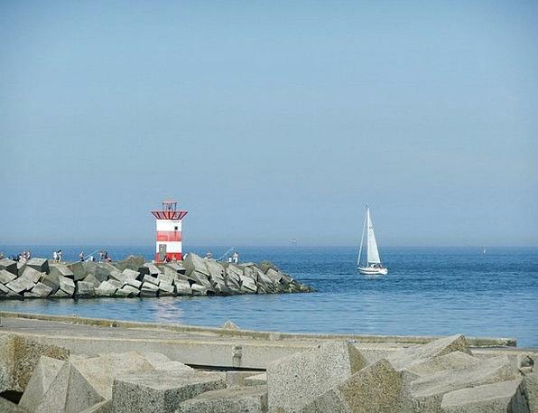 Coast Shore Sea Marine Lighthouse North Sea Scheve