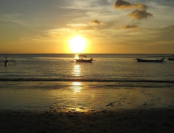 Beach Seashore Vacation Sundown Travel Bali Sunset