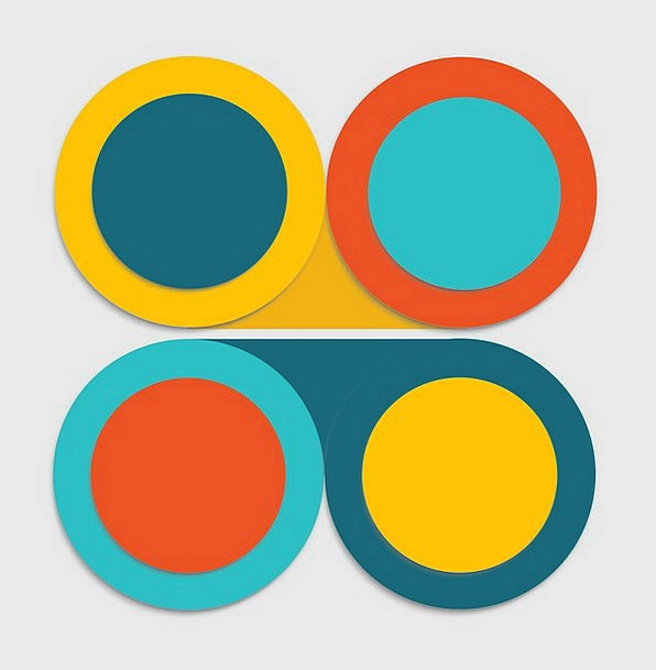 Circle Ring Textures Around Backgrounds Arrangemen