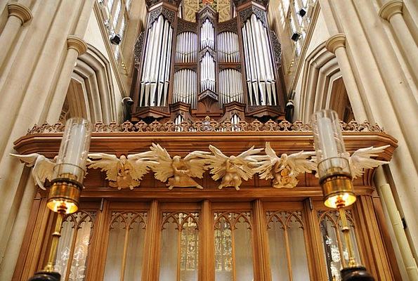 Bath Abbey Structure Church Ecclesiastical Organ E