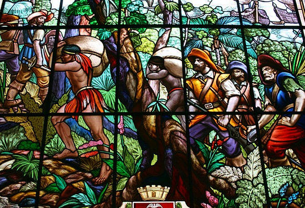 Stained Glass Bandeirantes Indians