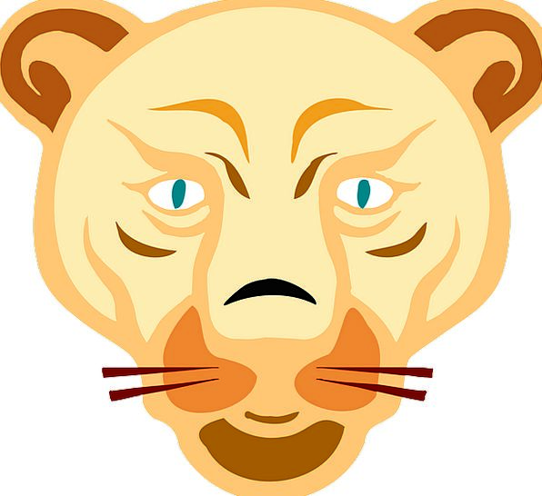 Lion Rough Animal Physical Wild Free Vector Graphi