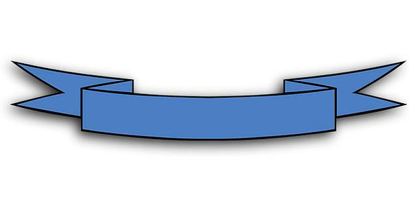 Ribbon Band Azure Bow Crossbow Blue Award Banner E