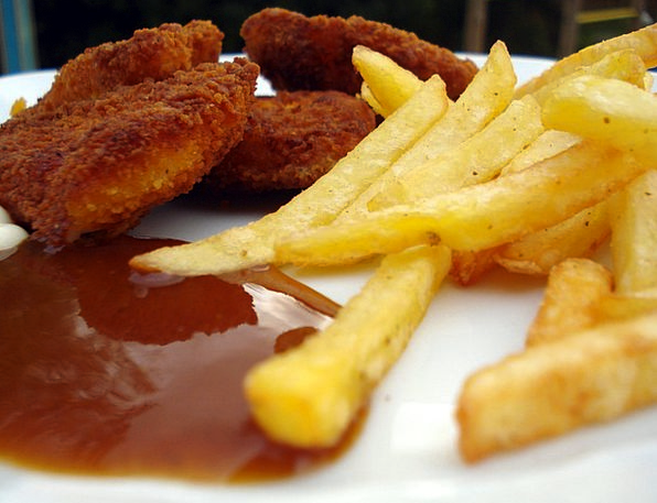 French Fries Drink Food French Frits Baked Chicken