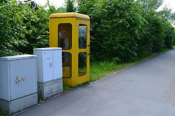 Yellow Creamy Communication Telephone Computer Pho