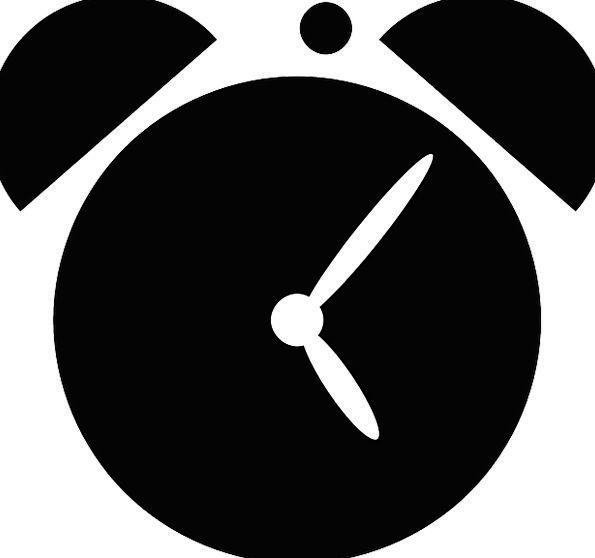 Alarm Fear Timepiece Silhouette Outline Clock Alar