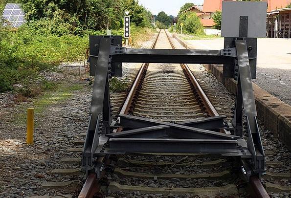 Buffer Stop Ground Rail Railroad Track Head Track
