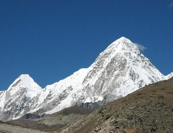 Pumori Landscapes Nature Everest Trek Himalaya Mou