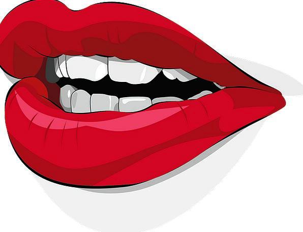 Lips Mouths Bloodshot Lipstick Blush Red Human Bri