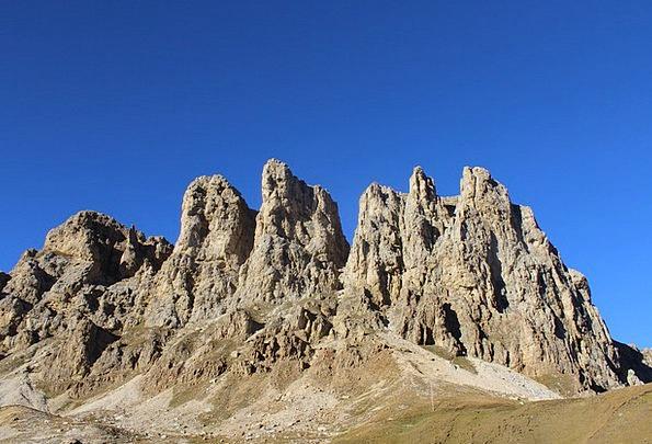 Mountains Crags South Tyrol Rose Garden Italy Sky