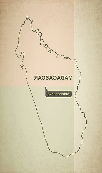 Outline Plan Chart Madagascar Map Geography Topogr