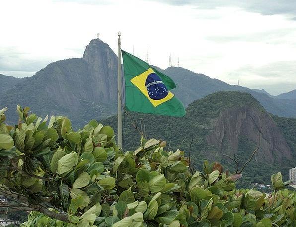 Brazil Landscapes Standard Nature Green Lime Flag Flagpole