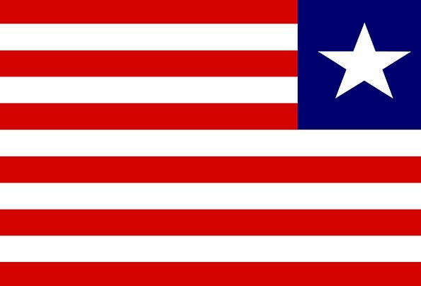 Liberia Standard National Nationwide Flag Free Vec