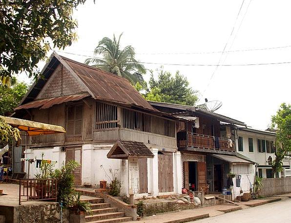 Luang Prabang Buildings Architecture Town Urban La