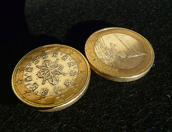 Euro Finance Changes Business Money Cash Coins Bac