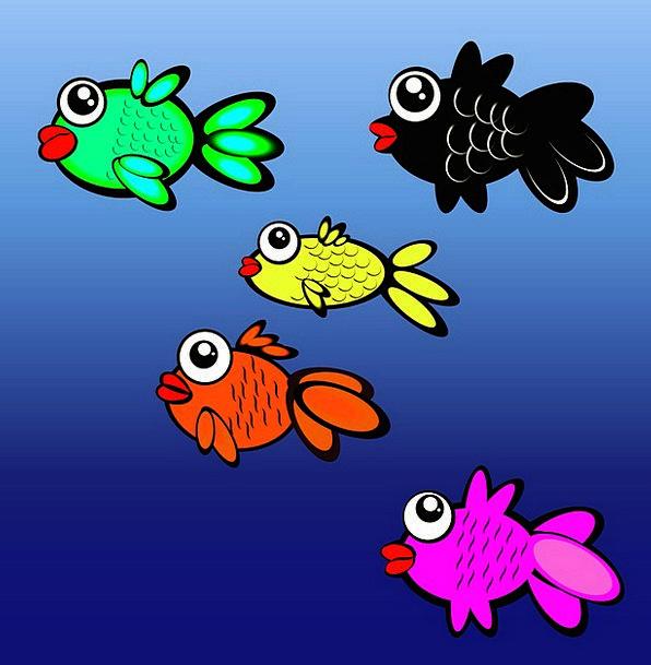 Fish Tank Fish Angle Aquarium Tank Cistern Cartoon