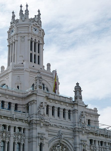 Madrid Buildings Architecture Spain Town Hall Faca