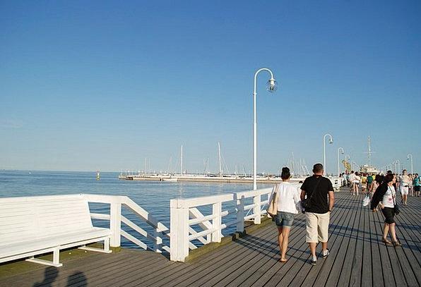 The Pier Vacation Travel Beach Seashore Sopot The