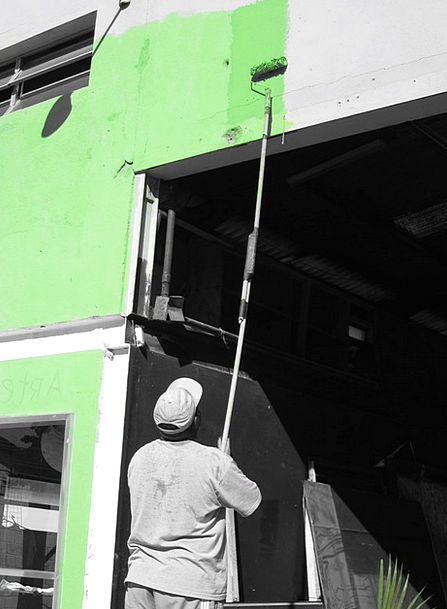 Paint Dye Artist Painting Image Painter Green Lime