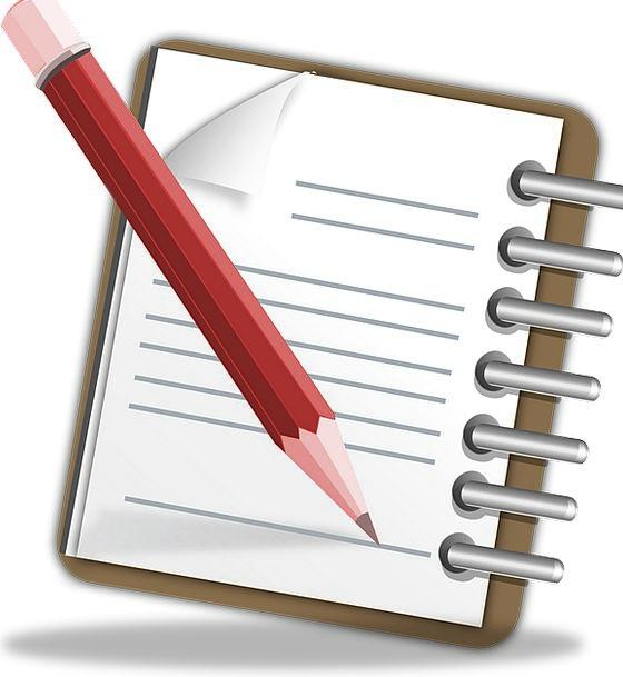Notepad Pad Memorandum Pencil Write Memo Scratchpa