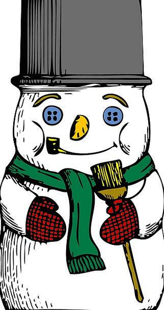 Snowman Season Cold Emotionless Winter Free Vector