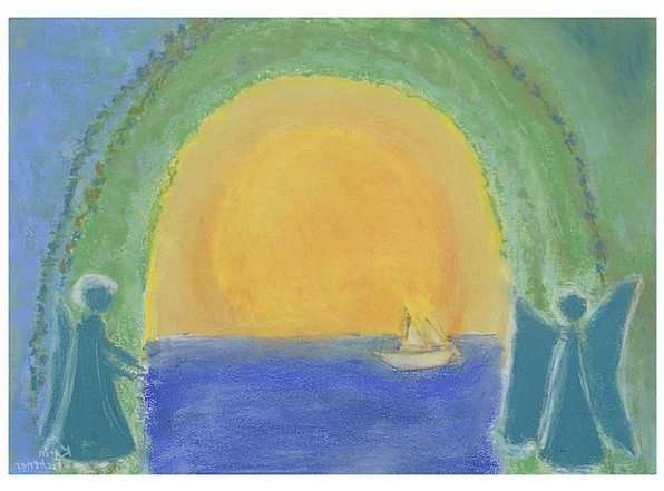 Image Copy Sun Painting Summer Straw-hat Angel Hol