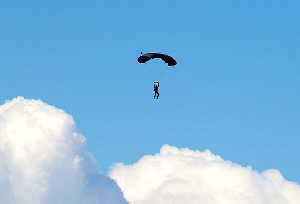 Parachute Free-fall Clouds Vapors Parasailing Sky