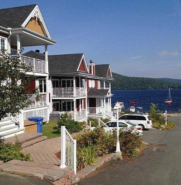 Saint Donat Buildings Architecture Lake Freshwater