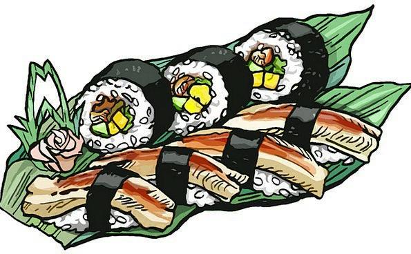 Sushi Drink Reel Food Conger Roll Eel Japanese Foo