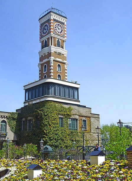 Japan Clock Tower Sapporo Park Common Flowers Cloc