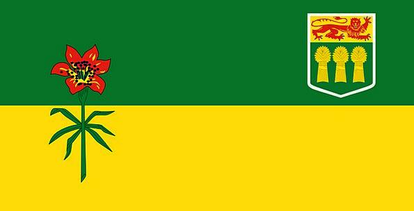 Saskatchewan Area Flag Standard Province Canada Pr