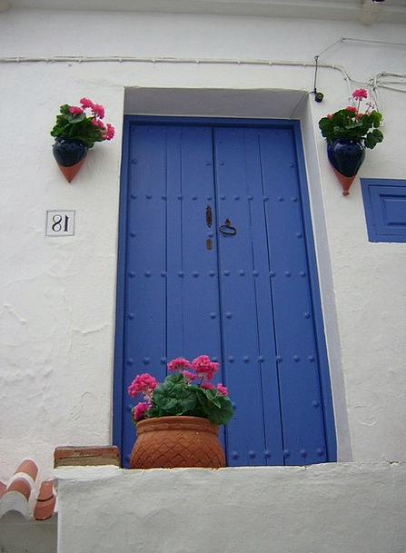 Andalusia Blue White Blue Door